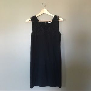 Black Body Con Dress with Lace Details